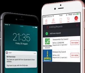 Mockup MBilling Paperless mobile app