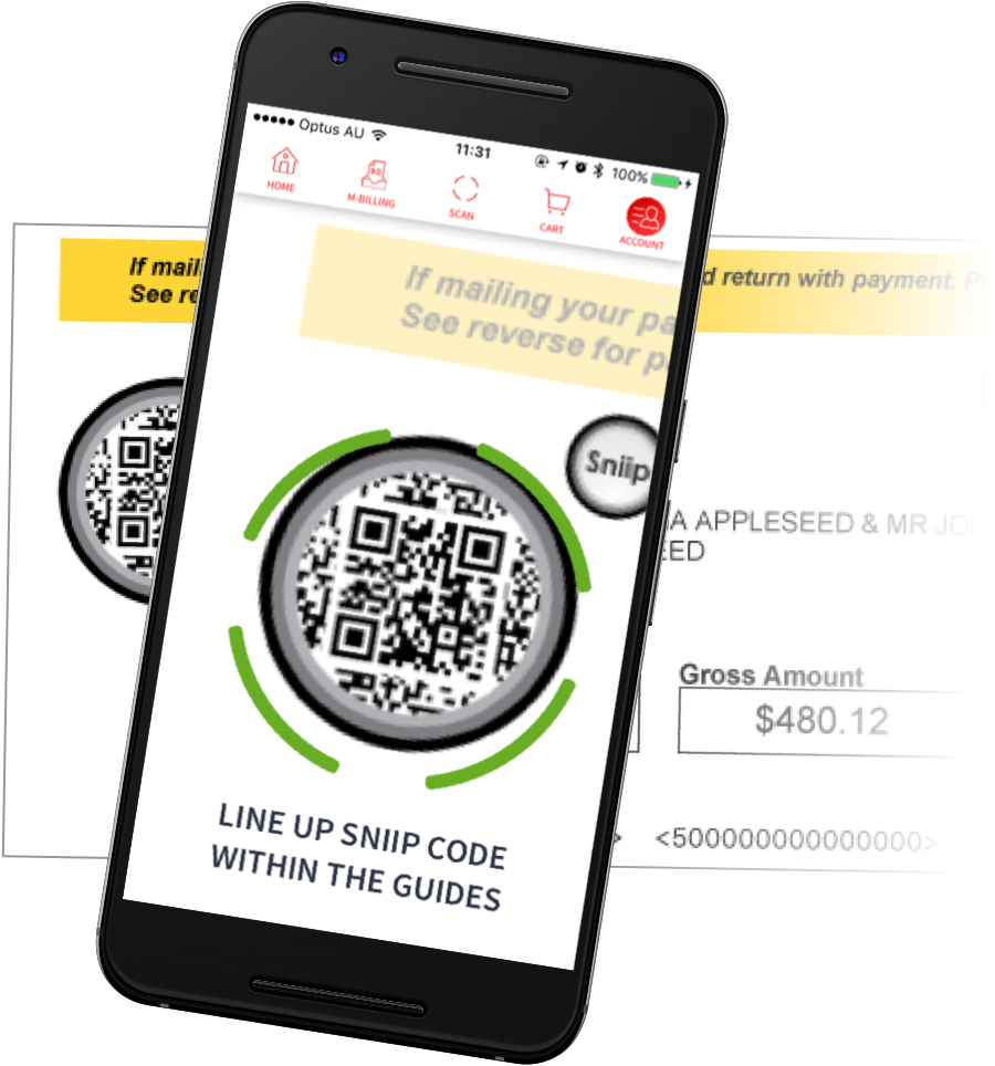 Sniip App Scan a bill mobile