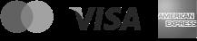 Mastercard, Visa and American Express logos
