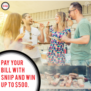 Pay with Sniip and Win $500